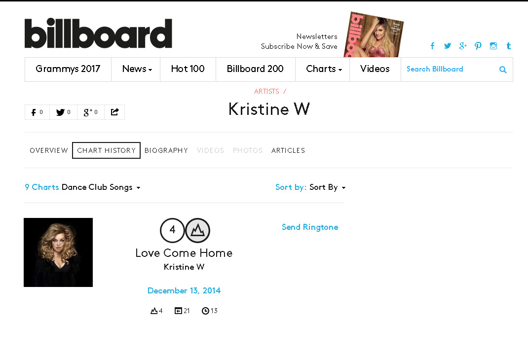KristineW_Billboard_LoveComeHome