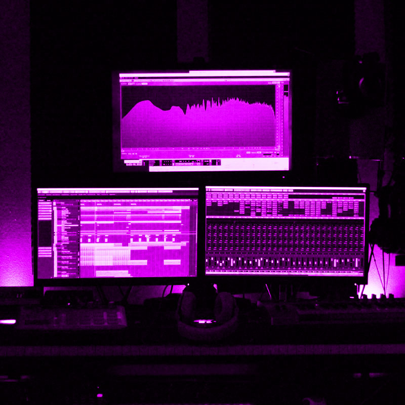 Remixing and music production - main workstation in Andy Sikorski's studio