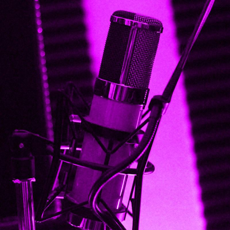 Recording music in Andy Sikorski's studio